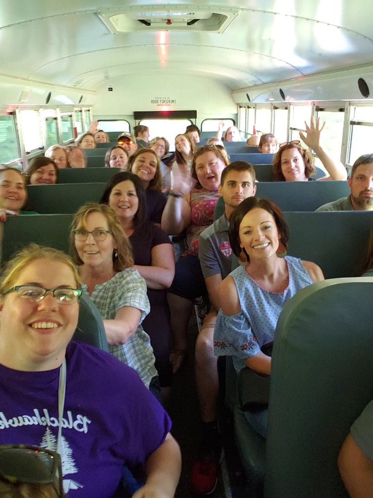 District bus tour with La Farge Schools staff
