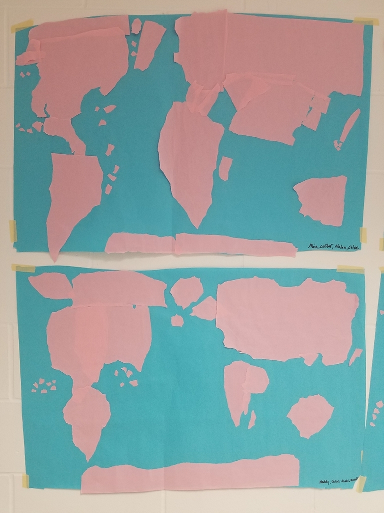 Torn paper maps