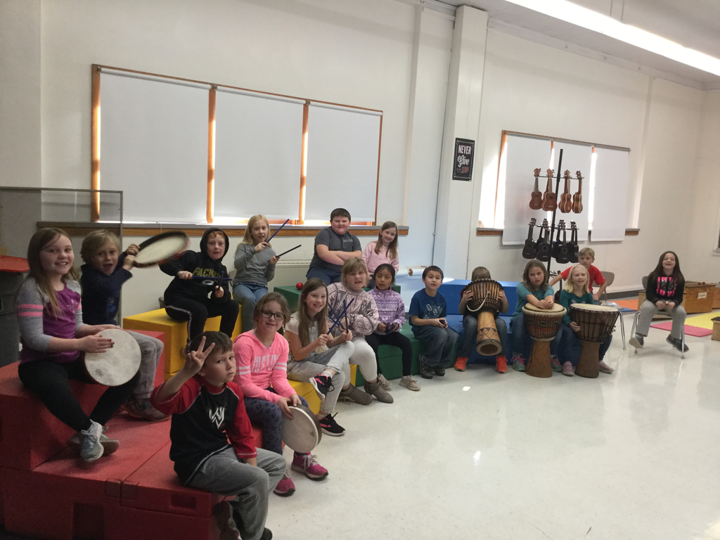 Second graders with instruments.