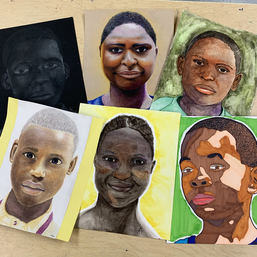 A few finished portraits of the students from Nigeria.