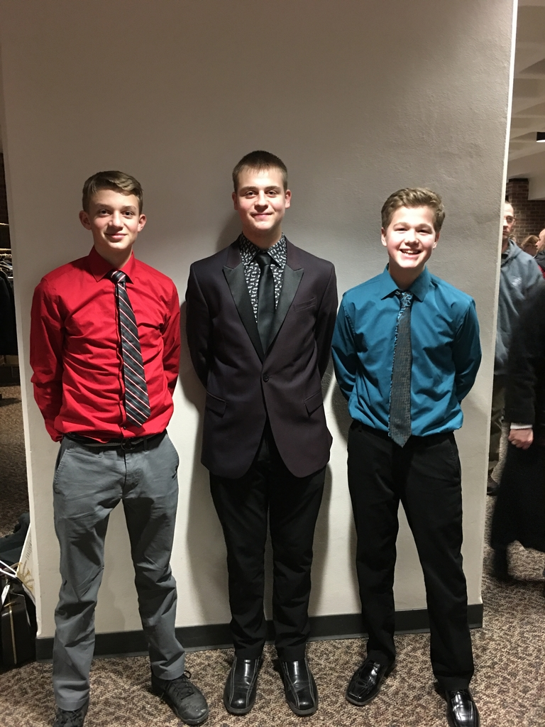 Hayden, Hunter and Aaron at the NBA-WC State Honors Band