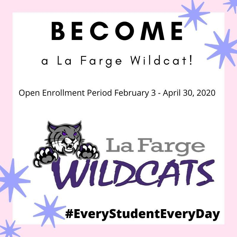 Become a La Farge Wildcat