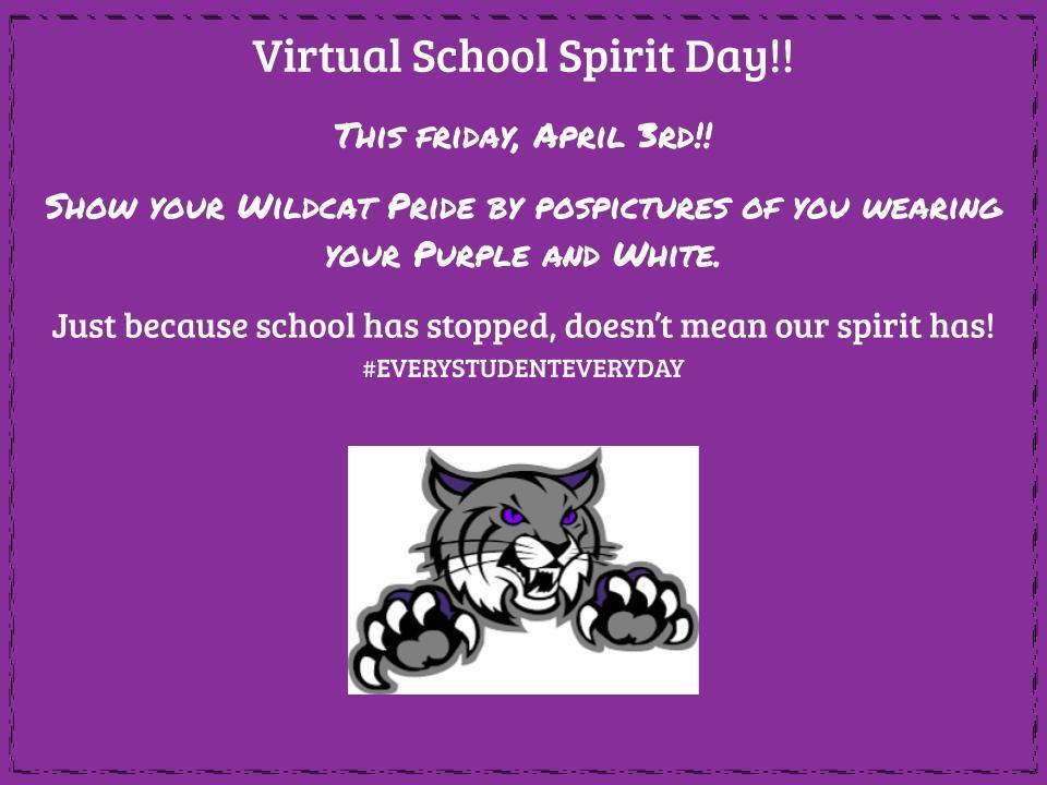 Join us for a virtual spirit day!